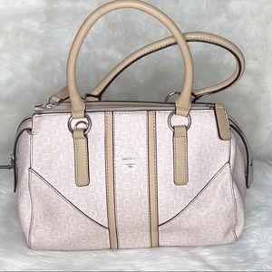 Guess Beige With Tan Trim Handbag